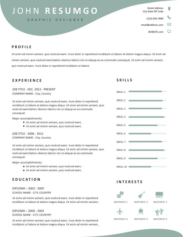 EOS - Free Resume Template - ResumGO