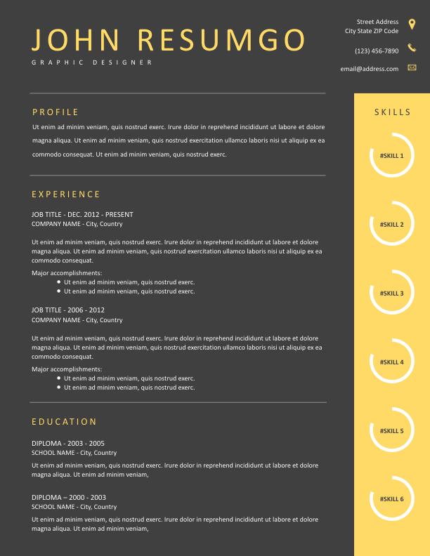 HAIDES - Free Resume Template - ResumGO