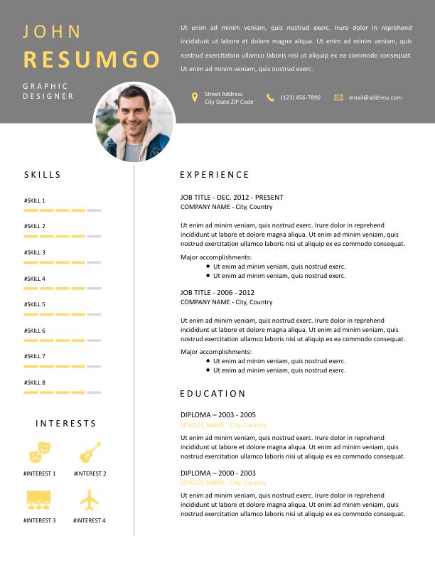 ISOKRATES - Free Resume Template - ResumGO