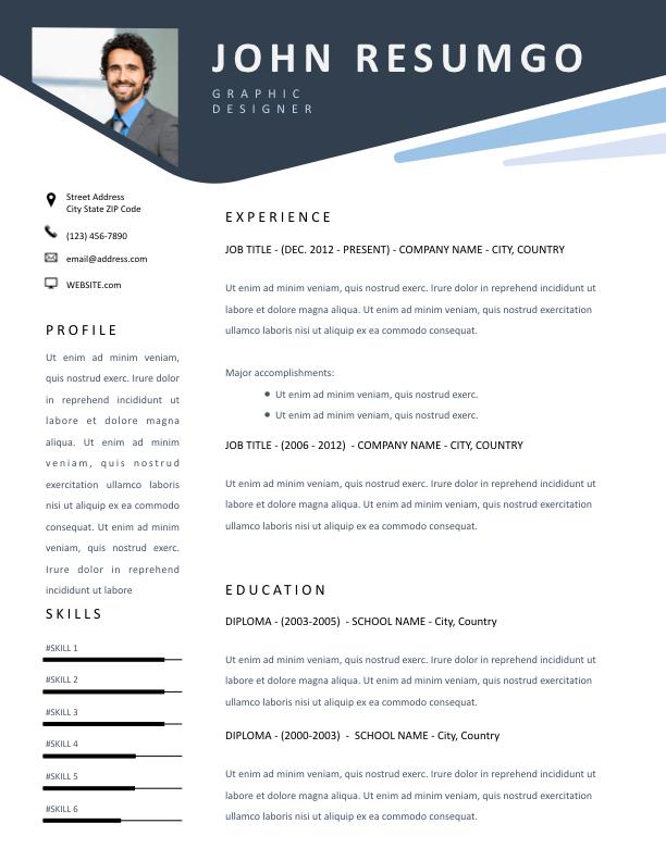 Karpos Stylish Header Resume Template Resumgo Com