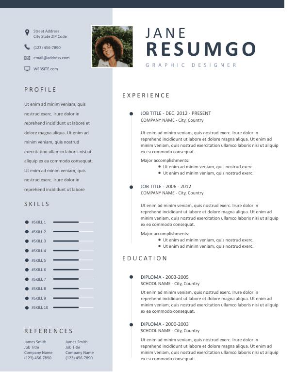 KASTOR - Free Resume Template - ResumGO