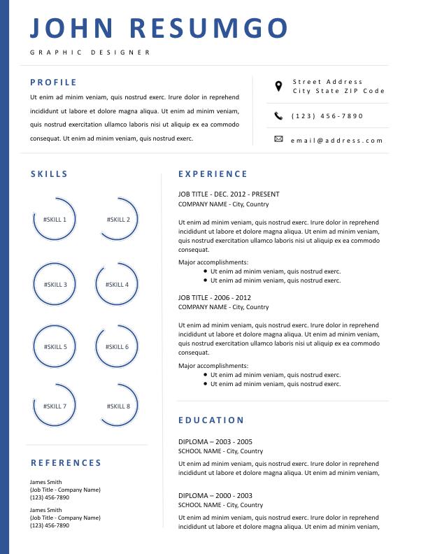 MINTA - Free Resume Template - ResumGO