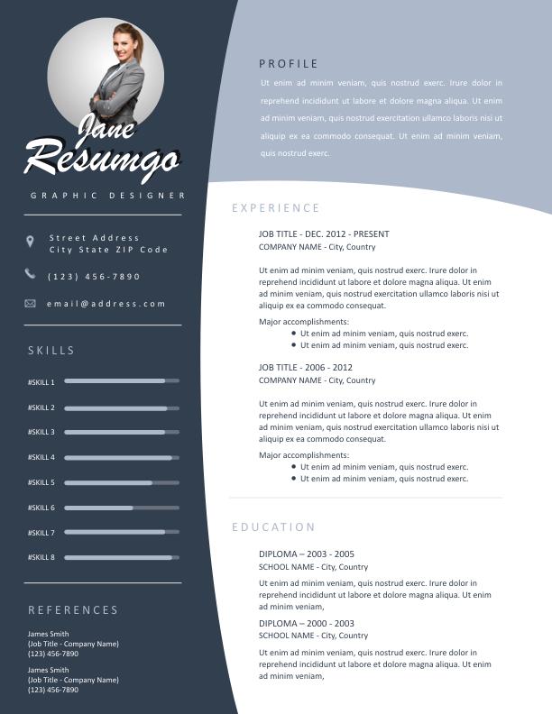 OULIXES - Free Resume Template - ResumGO