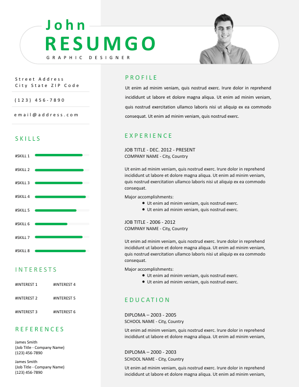 PAEON - Free Resume Template - ResumGO