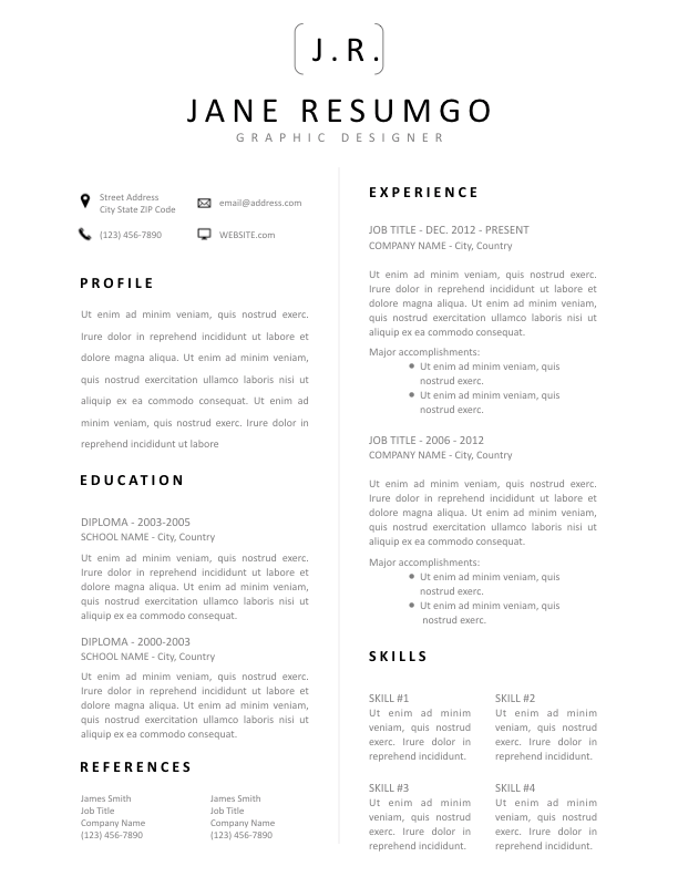 CHARA - Free Resume Template - ResumGO