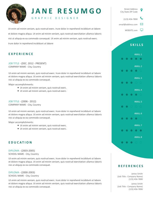 DAMOKLES - Free Resume Template - ResumGO