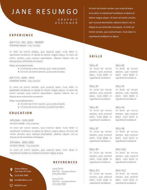 DEMETRA - Free Resume Template - ResumGO