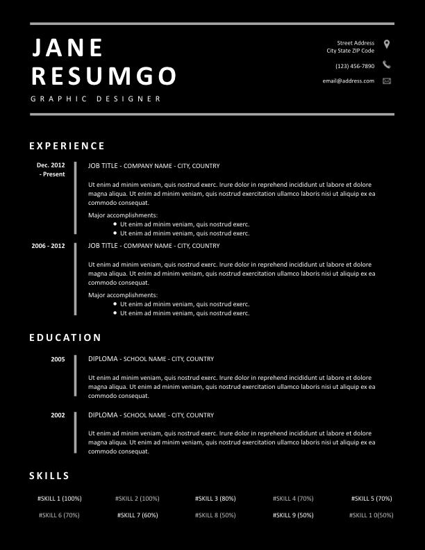 DIONA - Free Resume Template - ResumGO