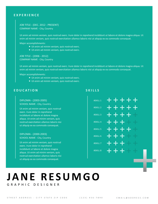 HERMIONE - Free Resume Template - ResumGO