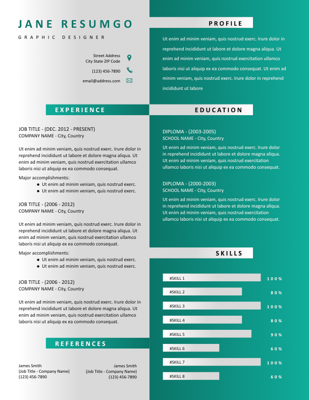 HESTIA - Free Resume Template - ResumGO