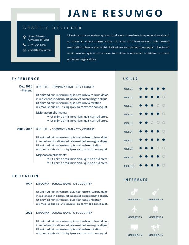 IOLE - Free Resume Template - ResumGO