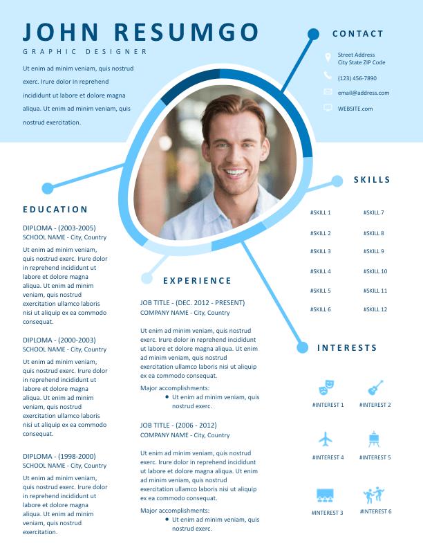 IRIS - Free Resume Template - ResumGO