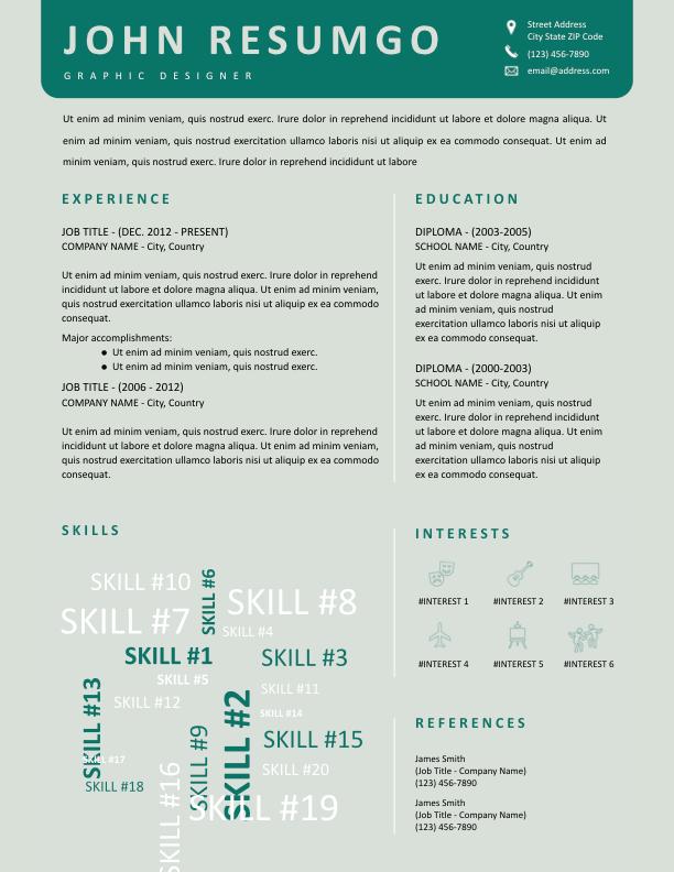 KLYTIE - Free Resume Template - ResumGO