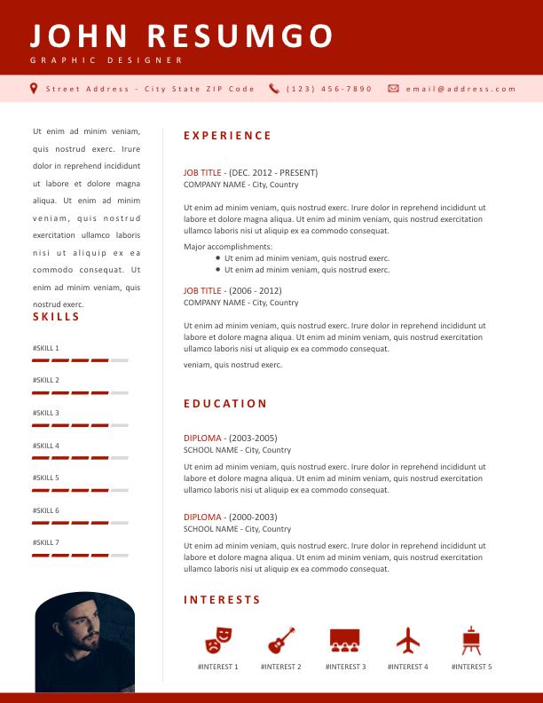 KOSMOS - Free Resume Template - ResumGO