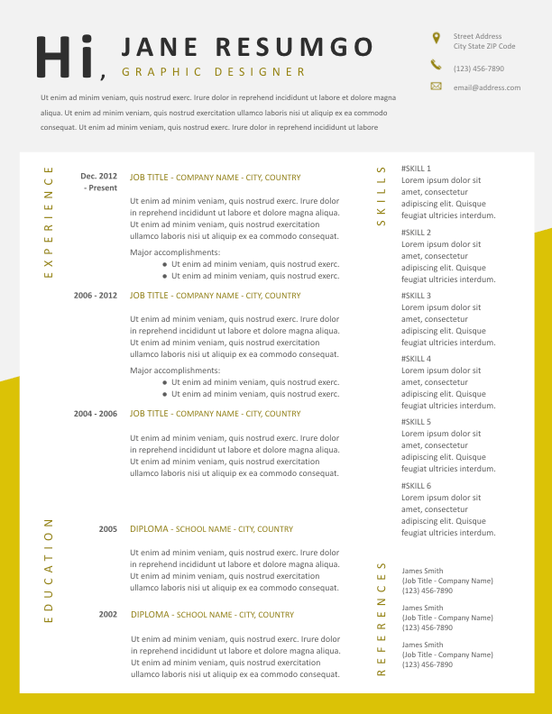KYRIAKE - Free Resume Template - ResumGO