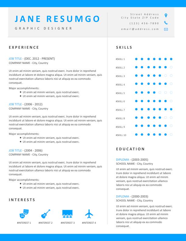 LIGEIA - Free Resume Template - ResumGO