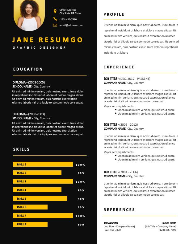 MACEDON - Free Resume Template - ResumGO