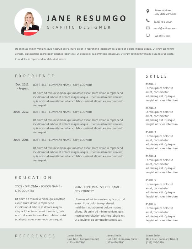 MELITA - Free Resume Template - ResumGO