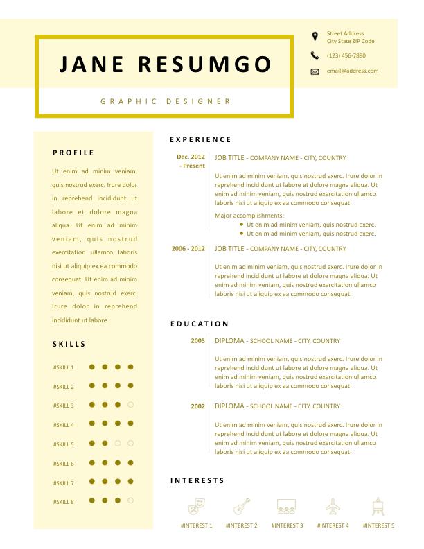 PHILE - Free Resume Template - ResumGO