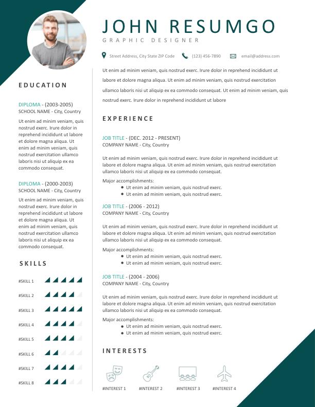 TERIS - Free Resume Template - ResumGO