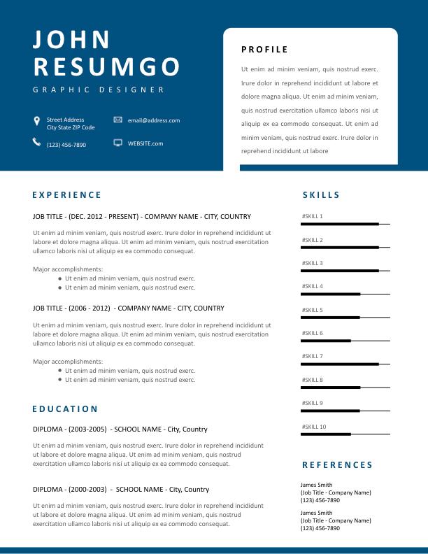 THANOS - Free Resume Template - ResumGO