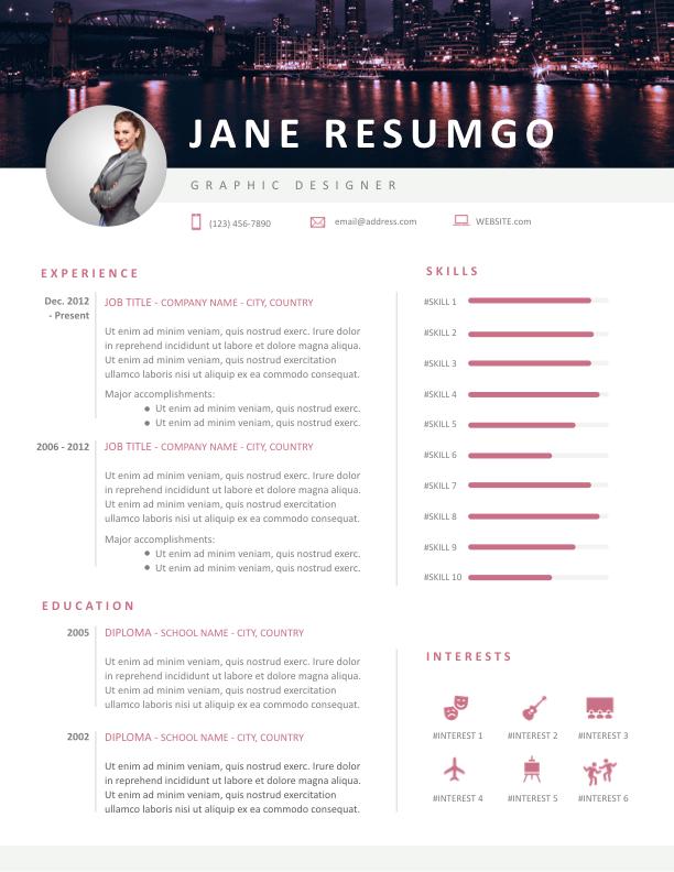 TRYPHOSA - Free Resume Template - ResumGO
