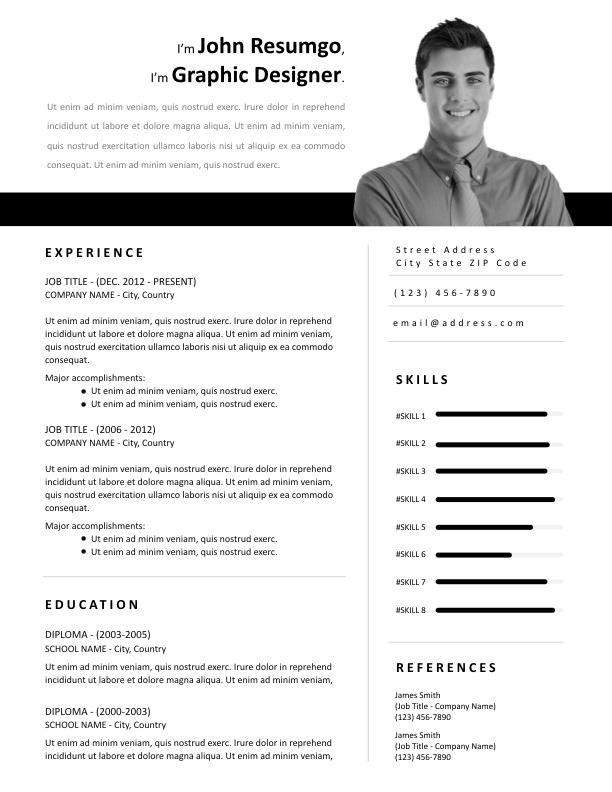 ZOE - Free Resume Template - ResumGO