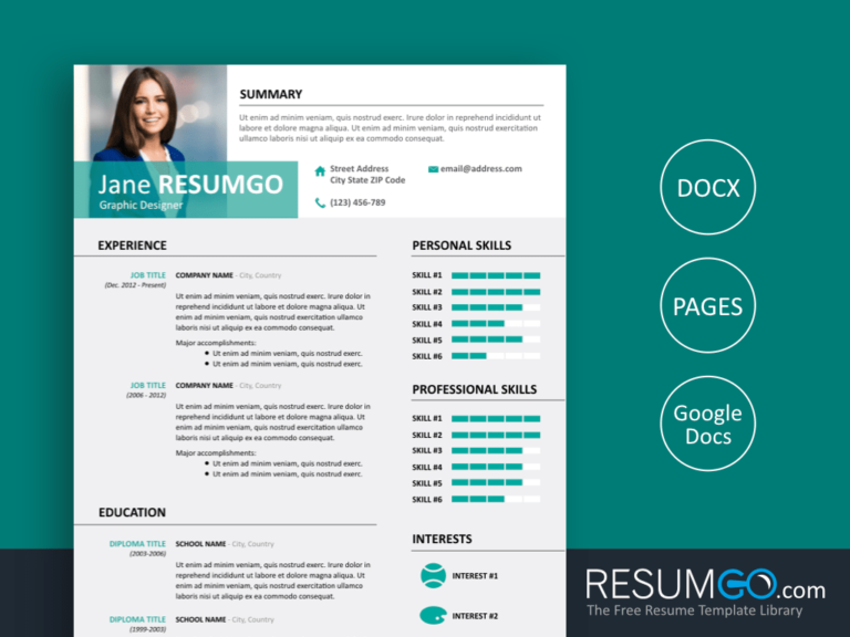 ALECTA - Free Modern Resume Template - ResumGO