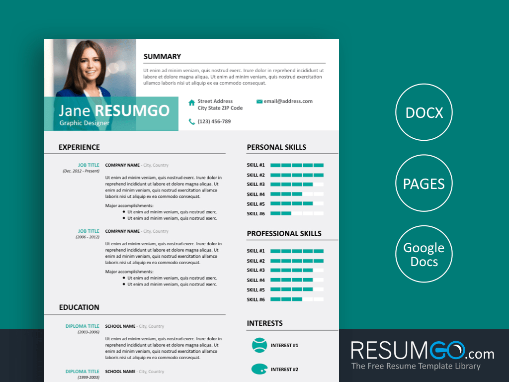 Alecta Professional Resume Template Resumgo Com