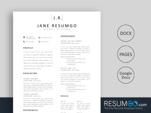 CHARA - Free Simple and Professional Resume Template - ResumGO