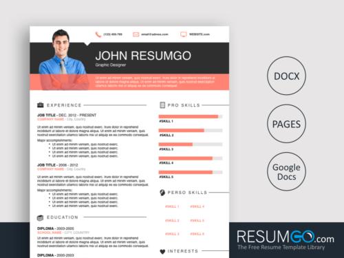ELIAS - Free Professional Resume Template - ResumGO