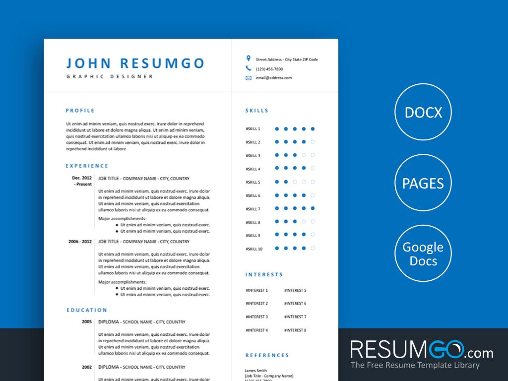 EUDOKIA - Free Simply and Modern Resume Template - ResumGO