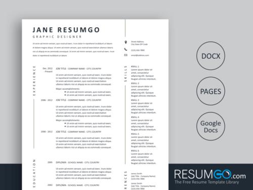 KLOTHO - Free Simple Creative Resume Template - ResumGO