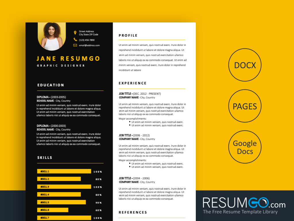 MACEDON - Free Twofold middle Resume Template - ResumGO