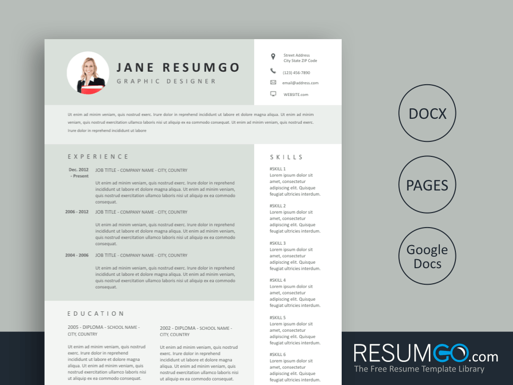 MELITA - Free Light Green Resume Template - ResumGO