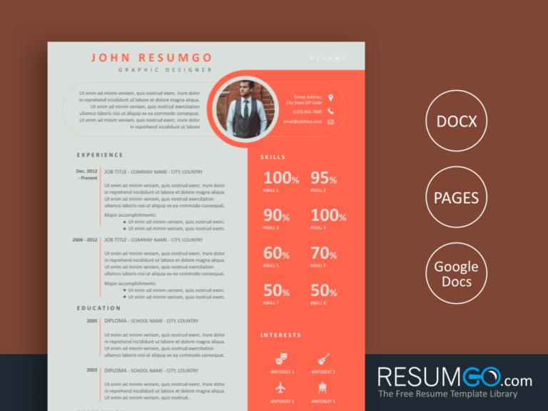 SPYRO - Free Creative and Unique Resume Template - ResumGO