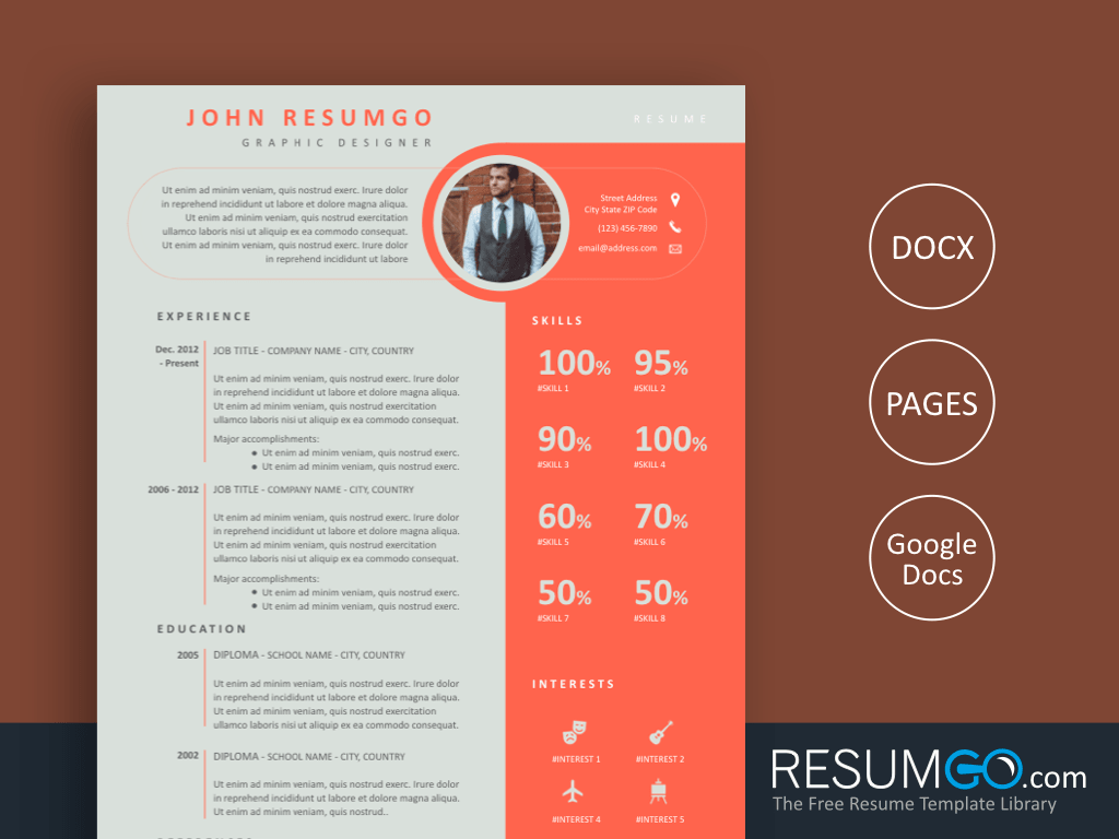 SPYRO - Free Creative and Unique Resume Template - ResumGO