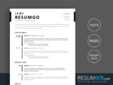 TIMO - Free Simple Stylish Resume Template - ResumGO