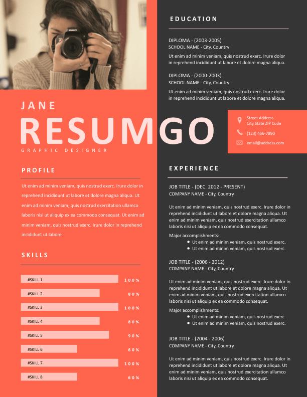 ADDA - Free Resume Template - ResumGO