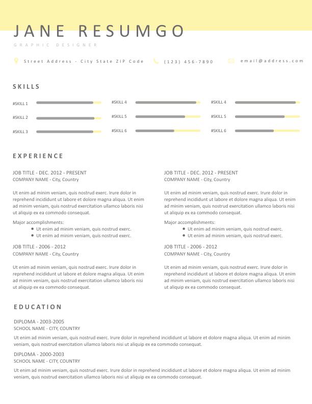 AGNETA - Free Resume Template - ResumGO
