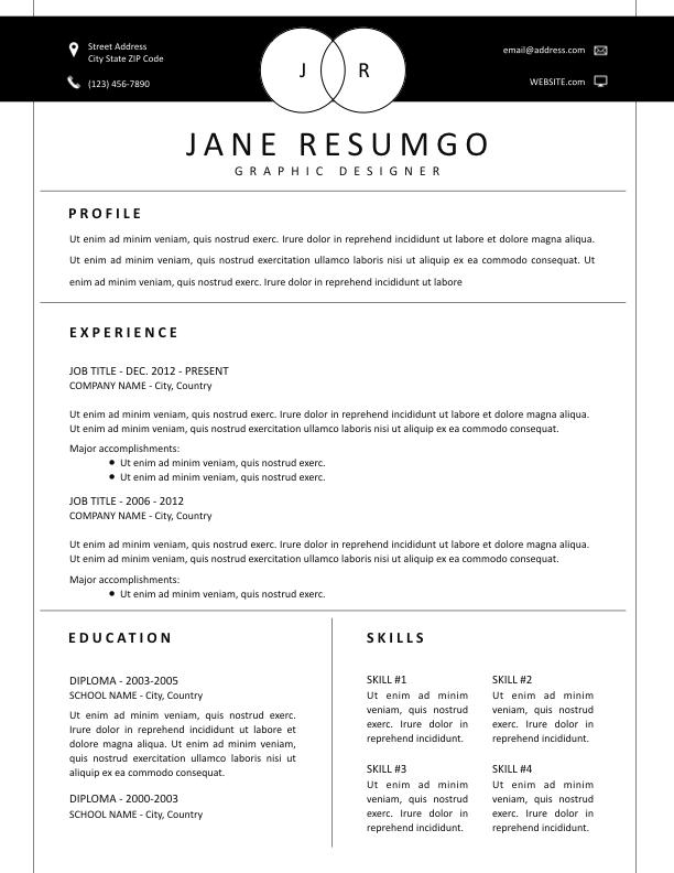 ALEX - Free Resume Template - ResumGO