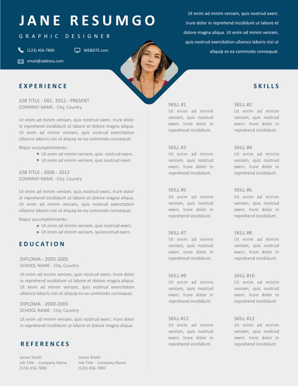 DAMON - Free Resume Template - ResumGO
