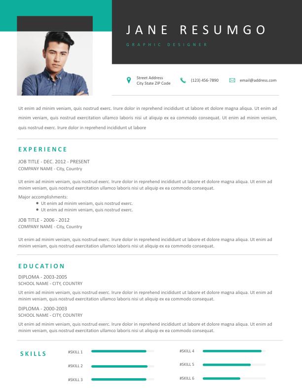DEMETER - Free Resume Template - ResumGO