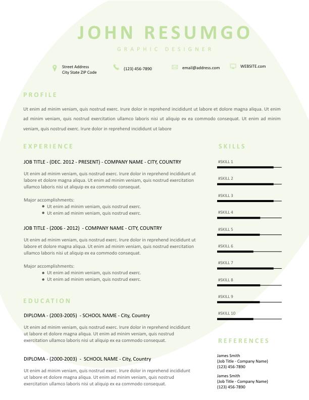 ELEKTRA - Free Resume Template - ResumGO