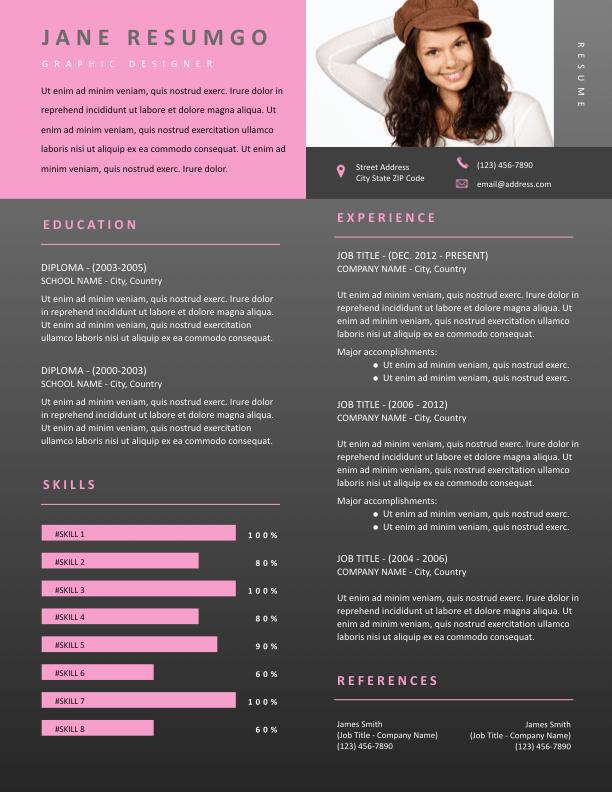 EUTHALIA - Free Resume Template - ResumGO
