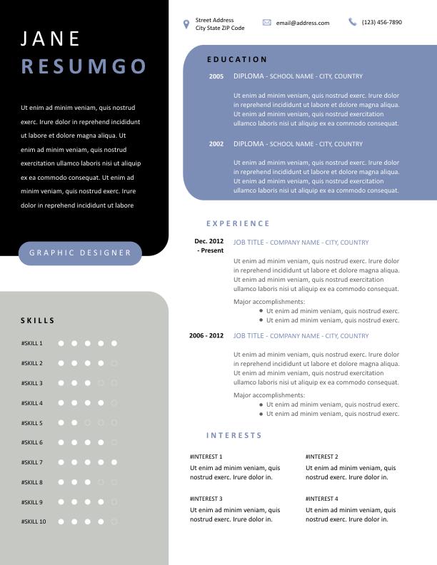 HECUBA - Free Resume Template - ResumGO