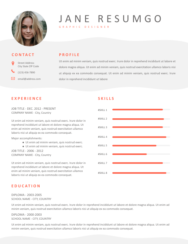HERMIA - Free Resume Template - ResumGO