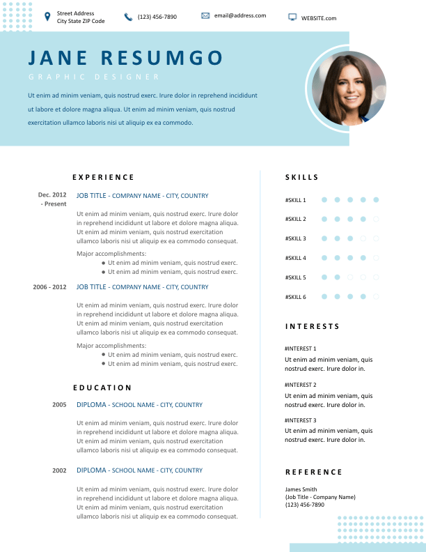 HERO - Free Resume Template - ResumGO