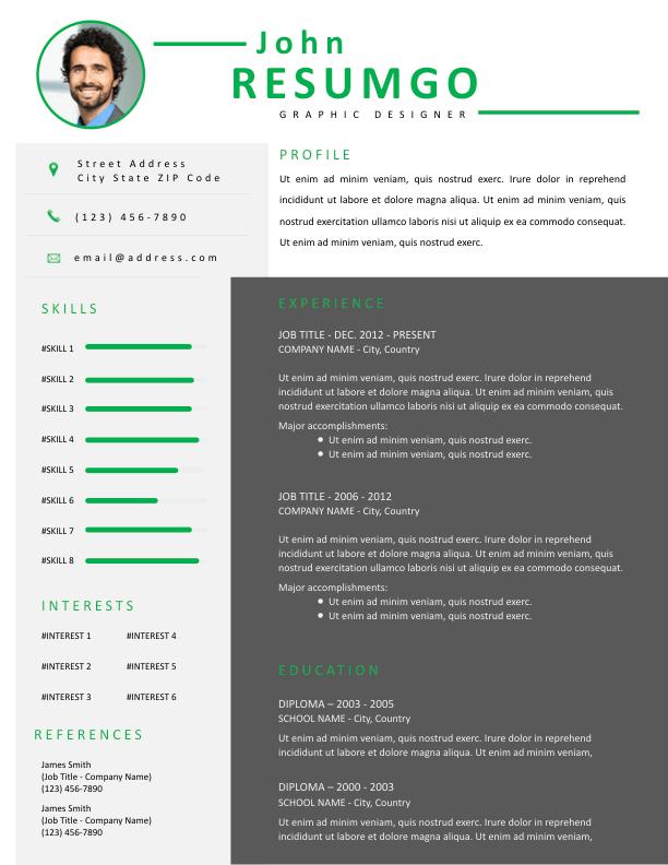 IDUMA - Free Resume Template - ResumGO