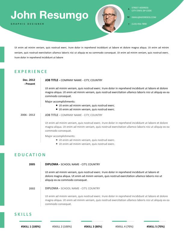 KRONOS - Free Resume Template - ResumGO